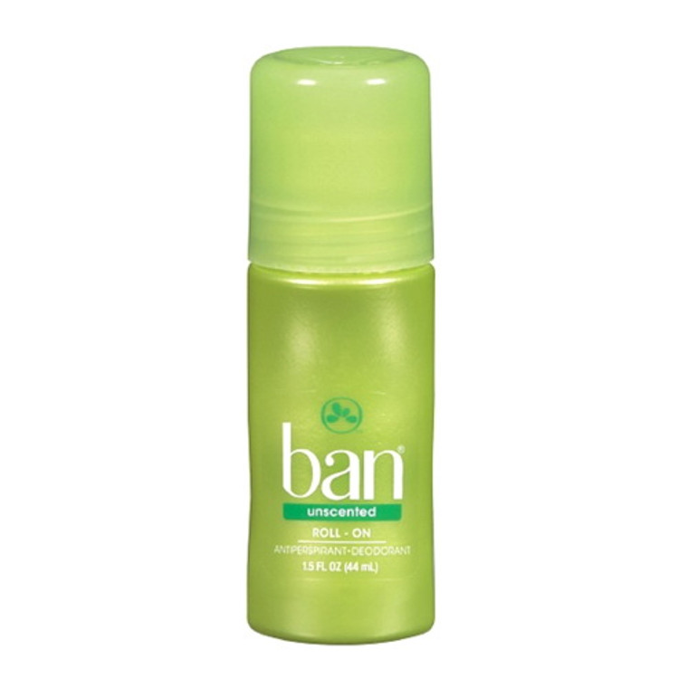 Ban Anti-Perspirant Deodorant Original Roll-On Unscented, 1.50 oz