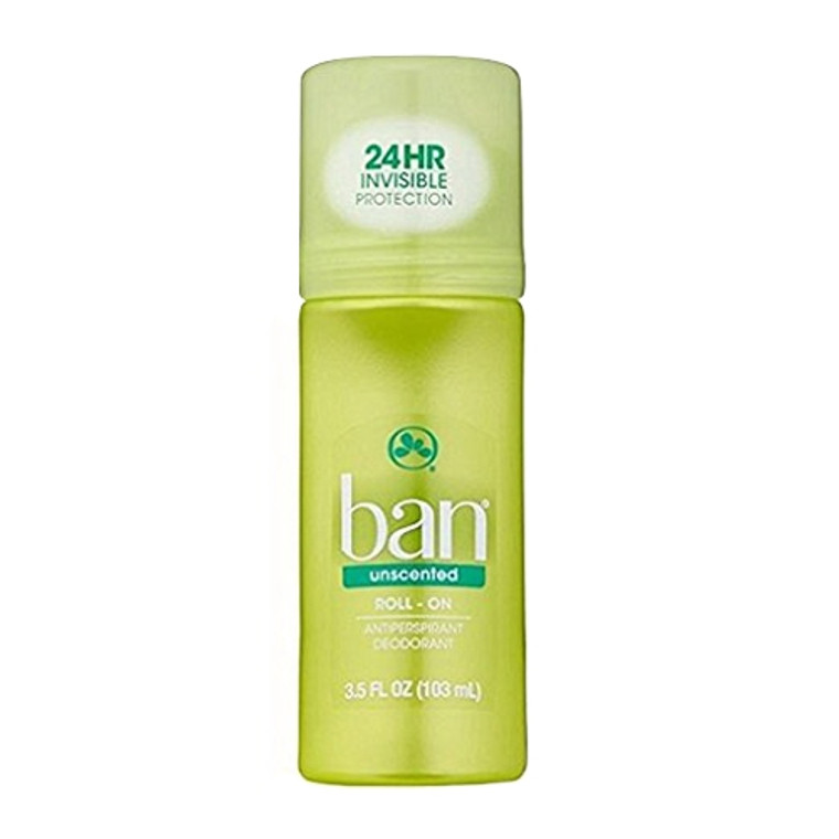 Ban Deodorant Unscented Roll-On, 1 Ea