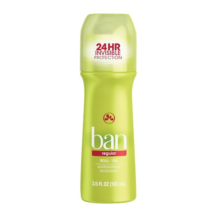 Ban Antiperspirant and Deodorant, Original Roll On, Regular, 3.5 Oz