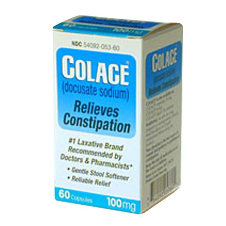 Colace Stool Softner Laxative 100Mg Capsules - 60 Ea