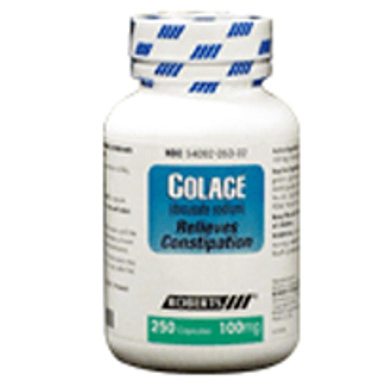 Colace Docusate Sodium 100 Mg Laxative Capsules - 250 Ea