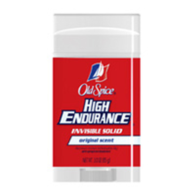 Old Spice High Endurance Invisible Solid Antiperspirant And Deodorant, Original Scent - 3 Oz