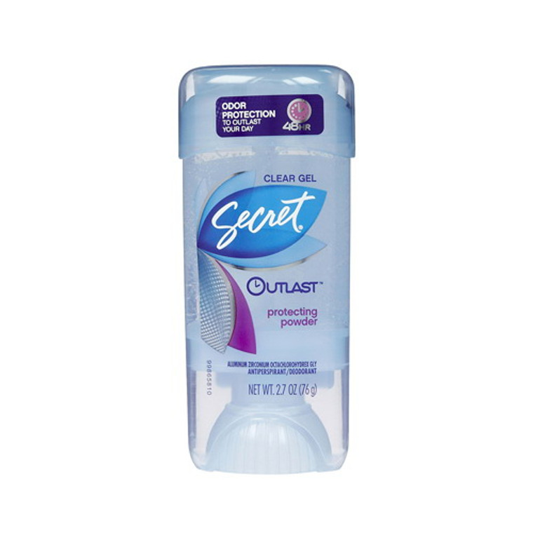 Secret Clear Gel Outlast Antiperspirant And Deodorant Powder - 2.7 Oz