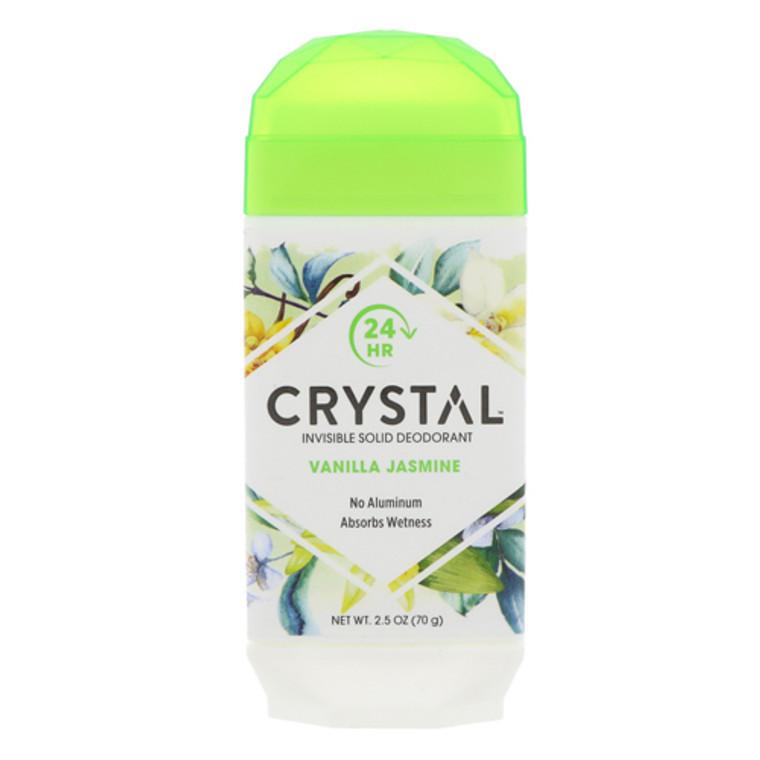 Crystal Invisible Solid Deodorant Absorbs Wetness, Vanilla Jasmine, 2.5 oz