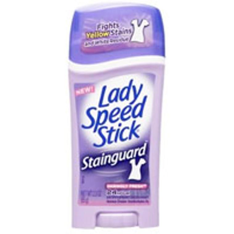 Lady Speed Stick Stainguard Antiperspirant And Deodorant,Daringly Fresh - 2.3 Oz