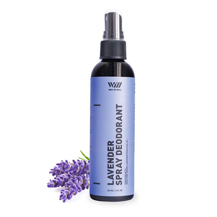 Way of Will Lavender Spray Deodorant for Men and Women, 4 Oz