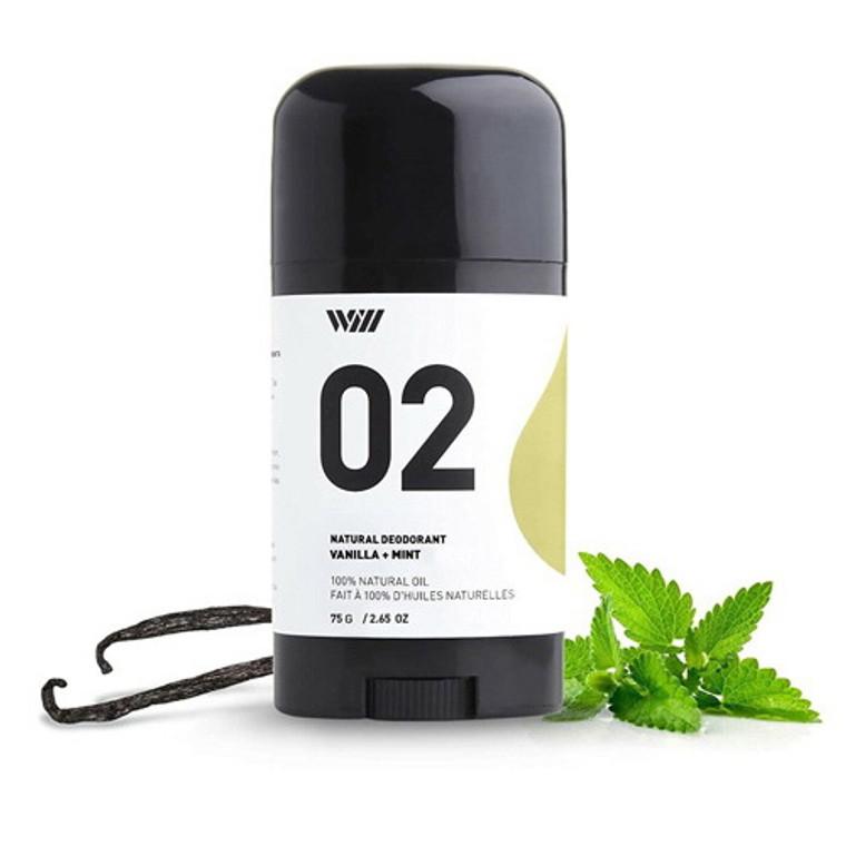 Way Of Will, Deodorant Natural Vanilla + Mint, 2.65 Oz