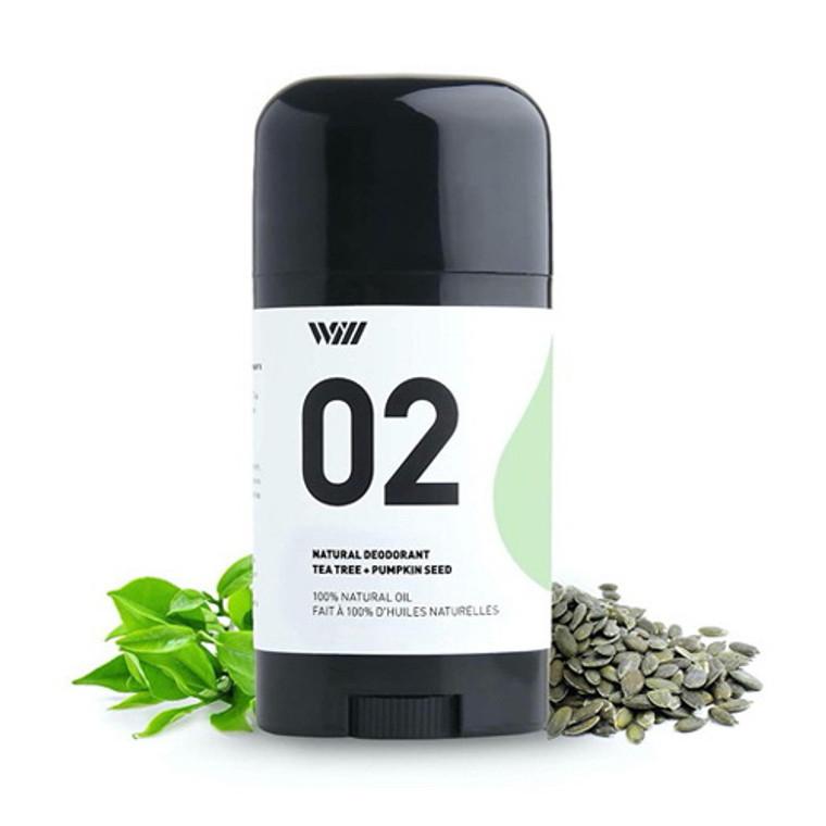 Way Of Will 02 Natural Deodorant Tea Tree and Pumpkin Seed, 2.65 Oz