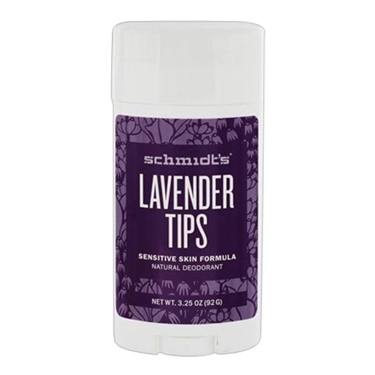 Schmidts Lavender Tips Sensitive Skin Formula Natural Deodorant, 3.25 Oz