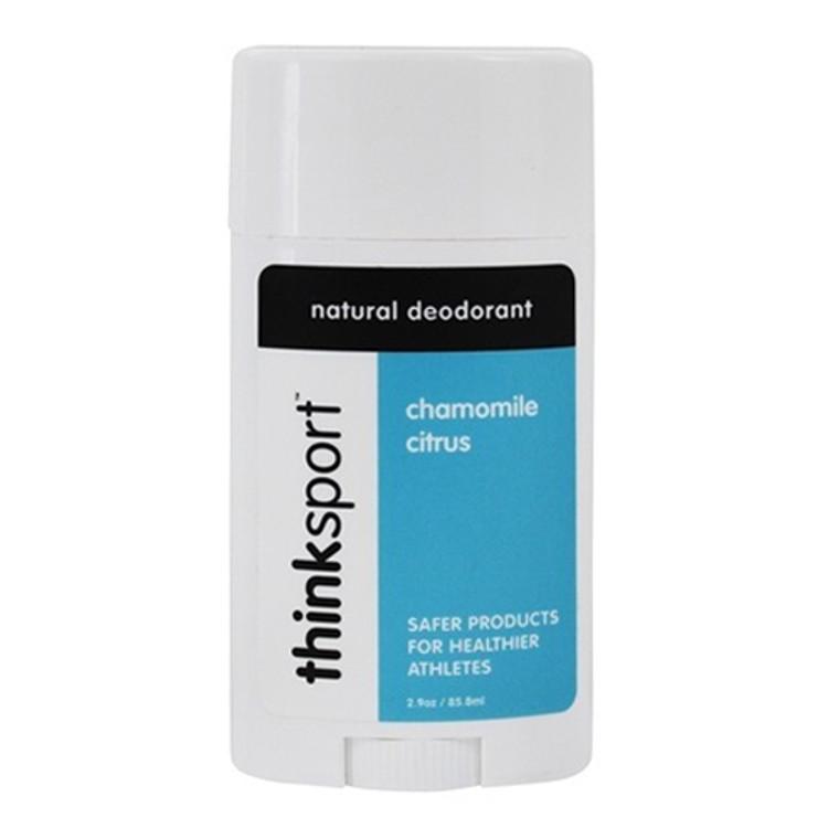 Thinksport Chamomile and Citrus Natural Deodorant Stick, 2.9 Oz