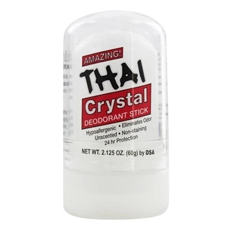 Thai Deodorant Stone Thai Natural Crystal Deodorant Push-Up Stick, 2.125 Oz