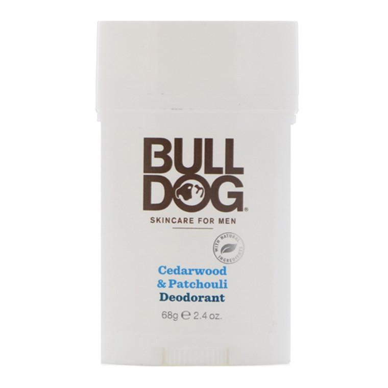 Bulldog Natural Skincare Deodorant For Men Cedarwood And Patchouli, 2.4 Oz