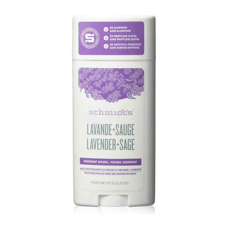 Schmidts Natural Lavender Plus Sage Deodorant Stick, 3.25 Oz