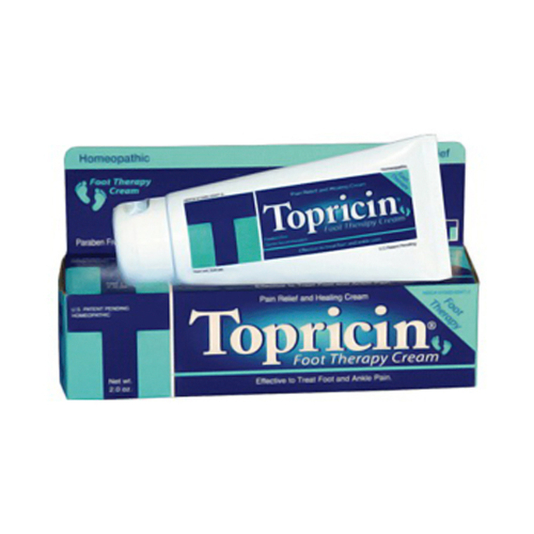 Topricin Foot Therapy Cream For Pain Relief, Paraben Free - 2 Oz