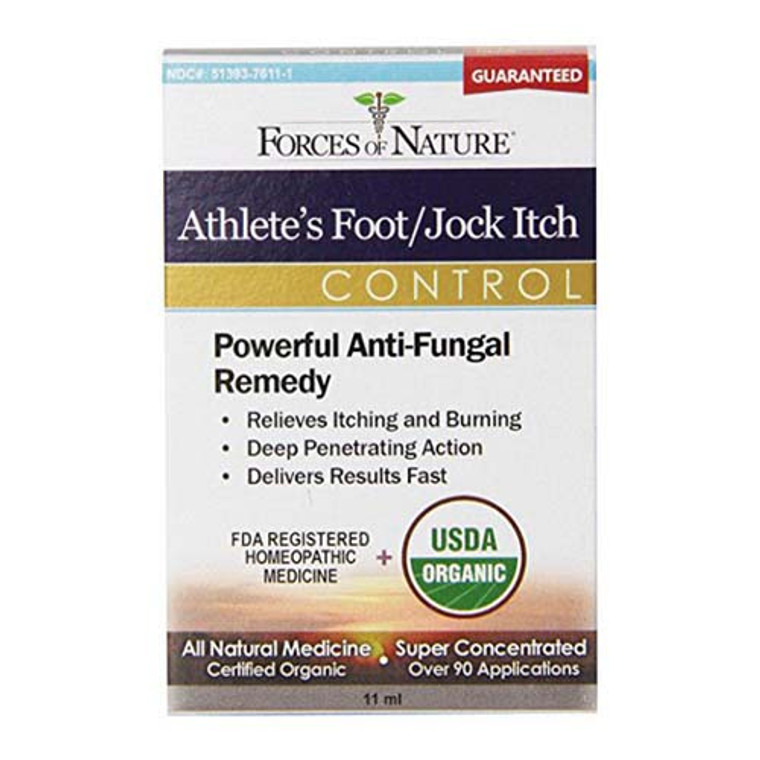 Forces Of Nature Organic Athletes Foot And Jock Itch Control, 11 Ml