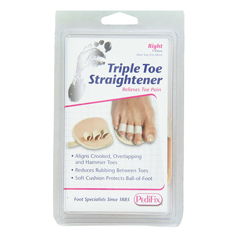 Pedifix Triple Toe Straightener Relives Toe Pain, Right Foot, 1 ea