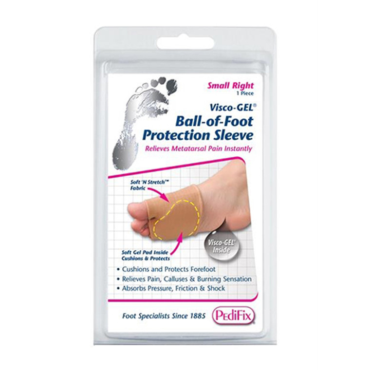 Pedifix Visco-Gel Ball-Of-Foot Protection Sleeve, Small Right, 1 ea