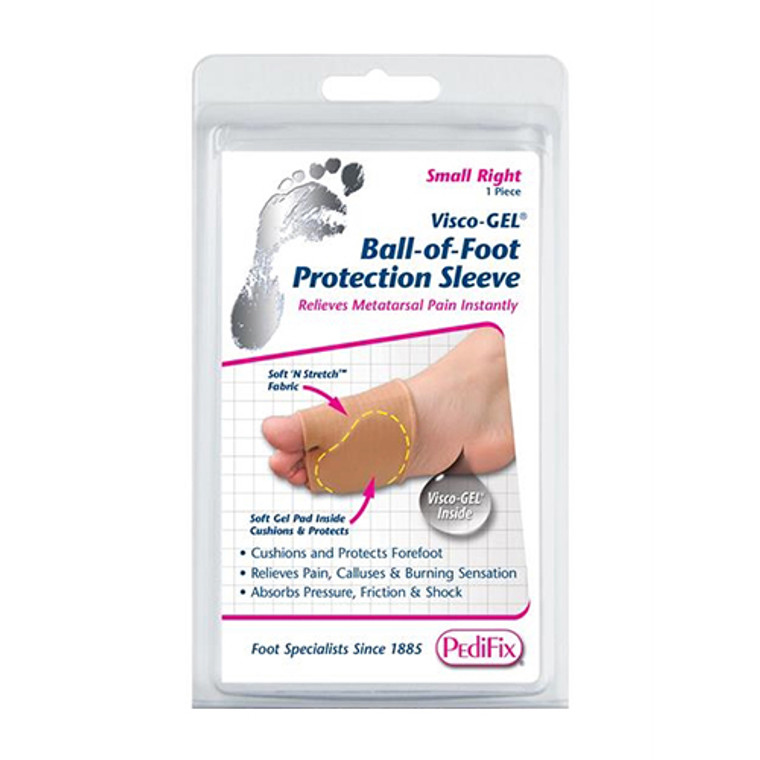 Pedifix Visco-Gel Ball-Of-Foot Protection Sleeve, Large Right, 1 ea