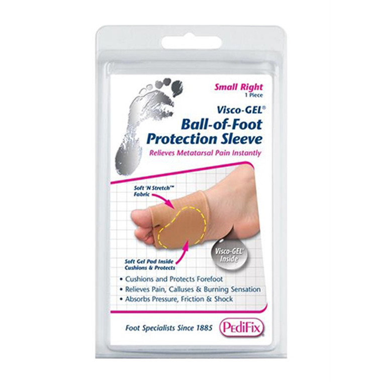 Pedifix Visco-Gel Ball Of Foot Protection Sleeve, Large Left, 1 ea