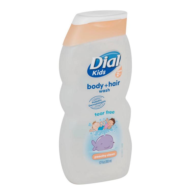 Dial Kids Body Plus Hair Wash, Peachy Clean For Ages 2+ - 12 Oz