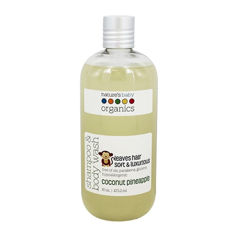 Natures Baby Organics Shampoo And Body Wash, Coconut Pineapple, 16 oz