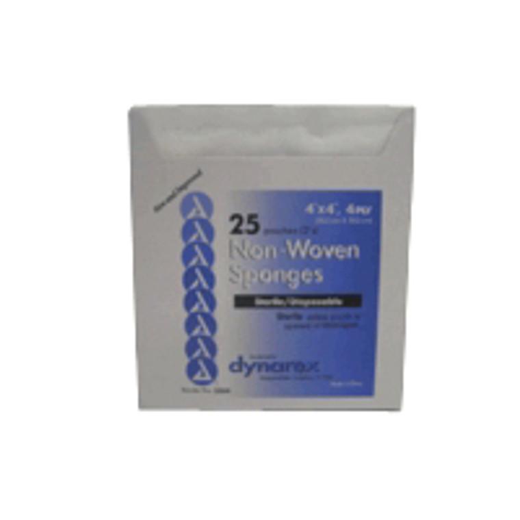 Gauze Sponge Non-Woven Sterile - 4 Ply  4 Inches X 4 Inches - 25 Ea