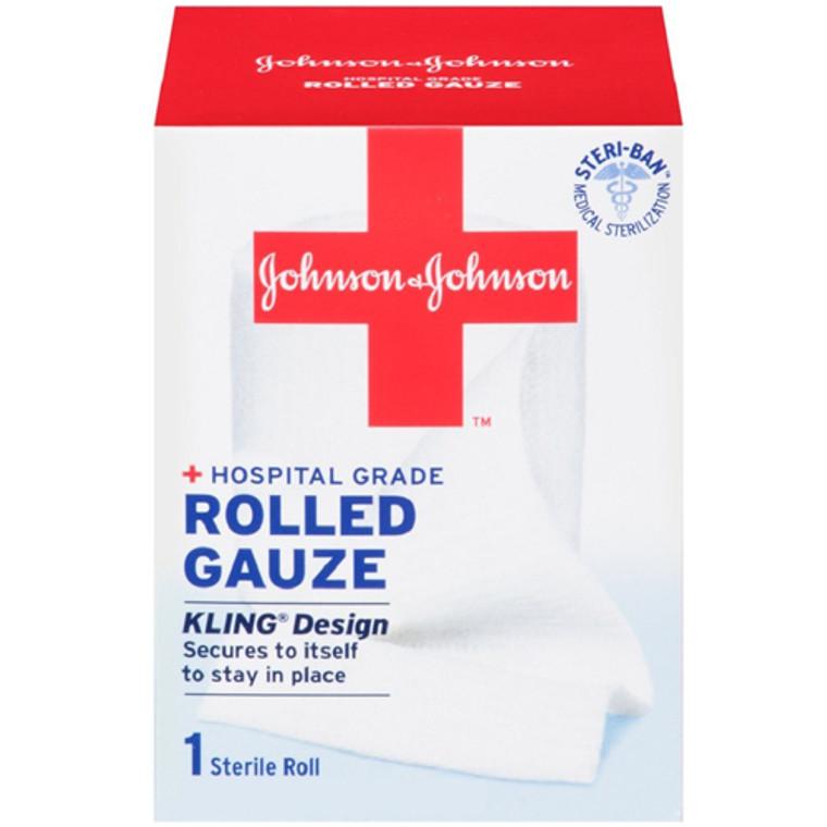 Johnson And Johnson Band Aid Kling Rolled Gauze, Large 4 Inch X 2.5 Yards - 1 Ea