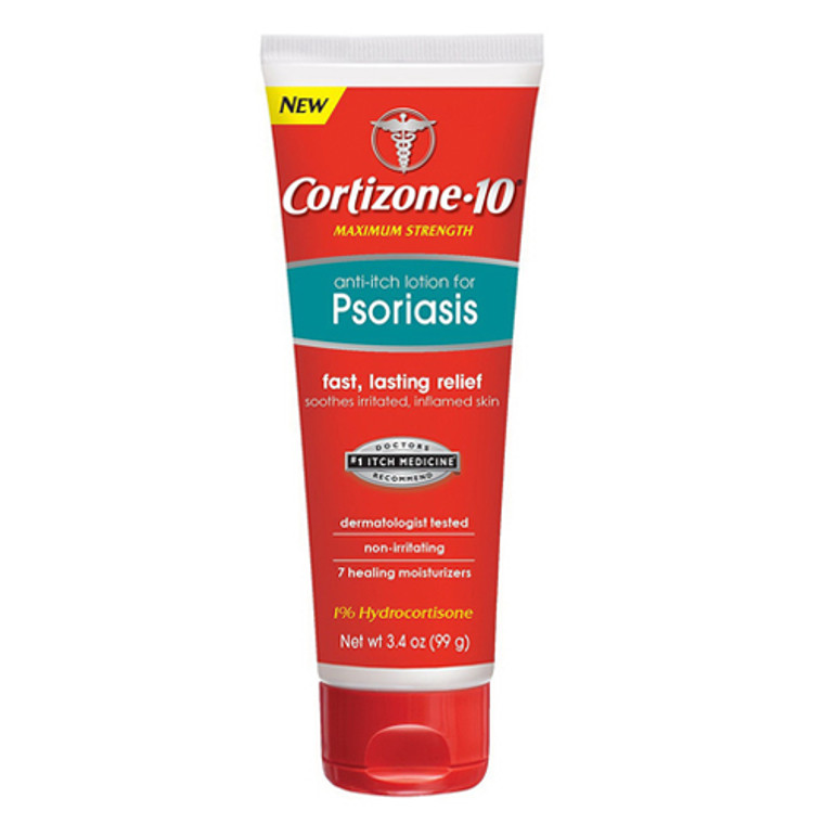 Cortizone 10 Maximum Strength Fast Lasting Relief Anti-Itch Lotion For Psoriasis, 3.4 oz