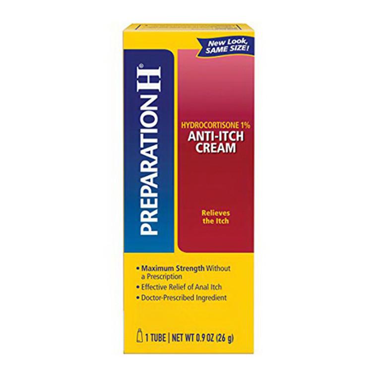 Preparation H Hydrocortisone 1%, Anti Itch Cream Tube, 0.9 Oz