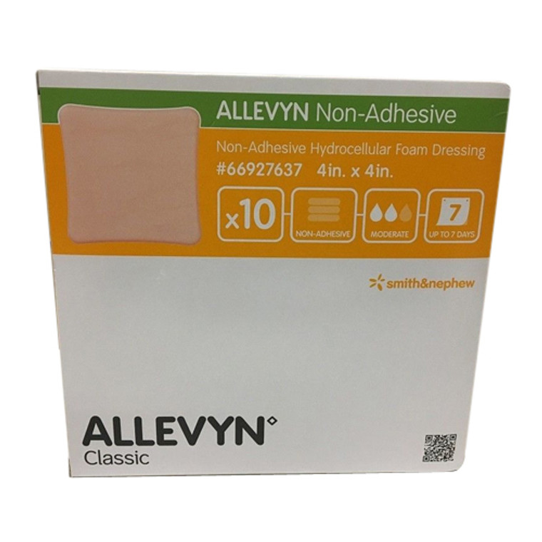 Smith And Nephew Allevyn Hydrocellular Non-Adhesive Foam Dressing, 4 X 4 Inch - 10 Pack