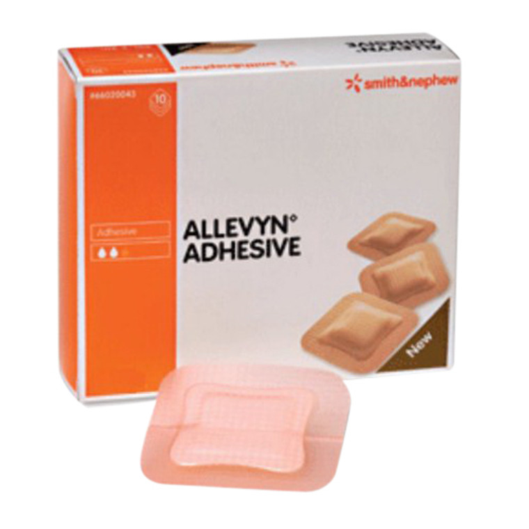Smith And Nephew Allevyn, Hydrocellular 5 Inches X 5 Inches Adhesive Dressing,  10 Pack