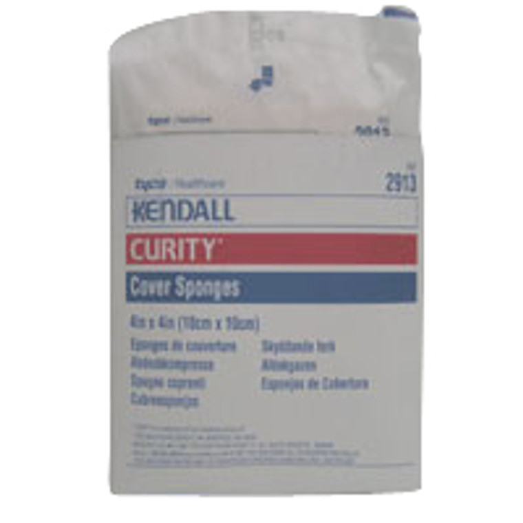 Curity Cover Sponge Sterile 2s in Peel-Back Package - 4 Inches X 4 Inches, 25 ea/Pack X 2 Packs