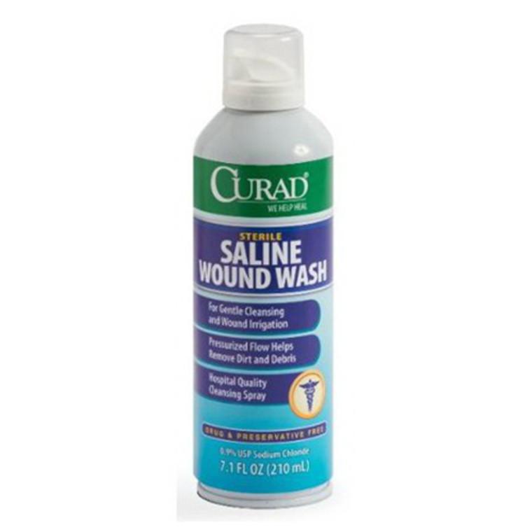 Curad Sterile Saline Wound Wash, 7.1 Oz