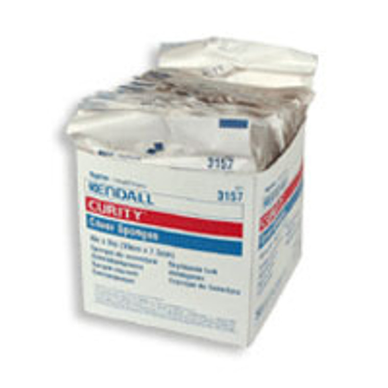 Kendall Curity Cover Sponges Sterile 3 X 4 Inches - 50 Ea