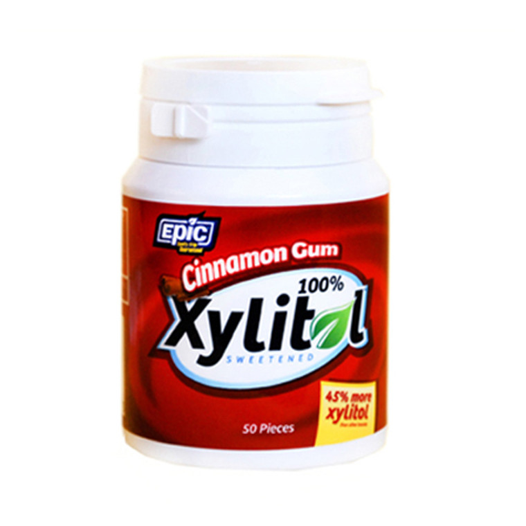 Epic Dental 100% Xylitol Sweetened Cinnamon Gum - 50 Ea