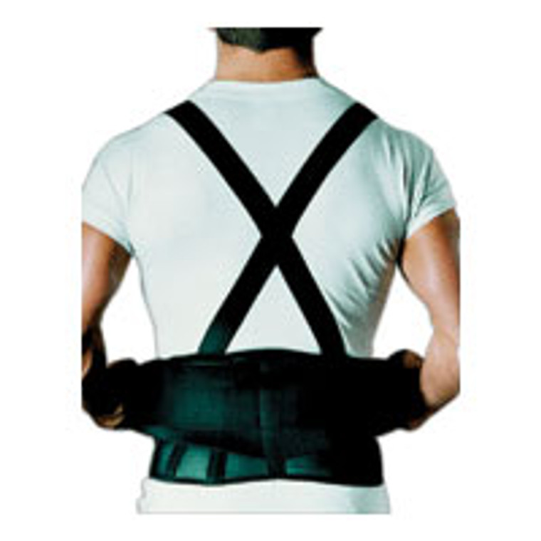 Sportaid Back Belt With Suspenders, Black, 40 Inches-55 Inches, X-Large - 1 Ea