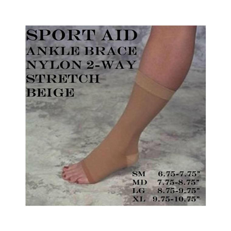 Scott Specialties Nylon Two Way Stretch Ankle Brace, X large, 1 Ea