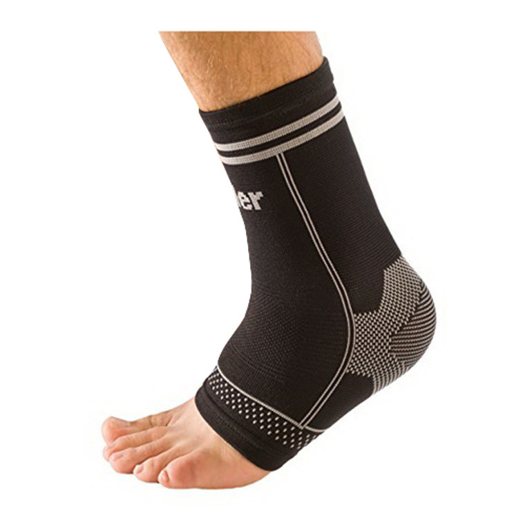 Mueller Moderate Sport Level Reusable Small or Medium 4 Way Stretch Ankle Support Braces, Small/Medium, 1 Ea