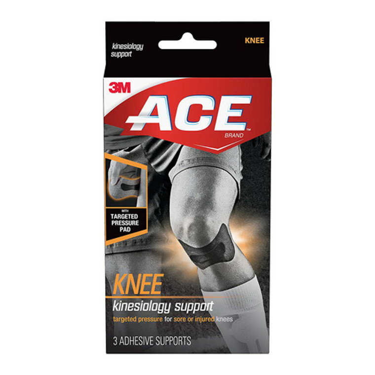 ACE Kinesiology Knee Supports, 3 Ea
