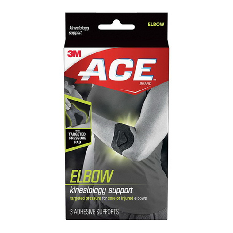 3M Ace Brand Kinesiology Elbow Support, Adhesive Supports, 3 Ea