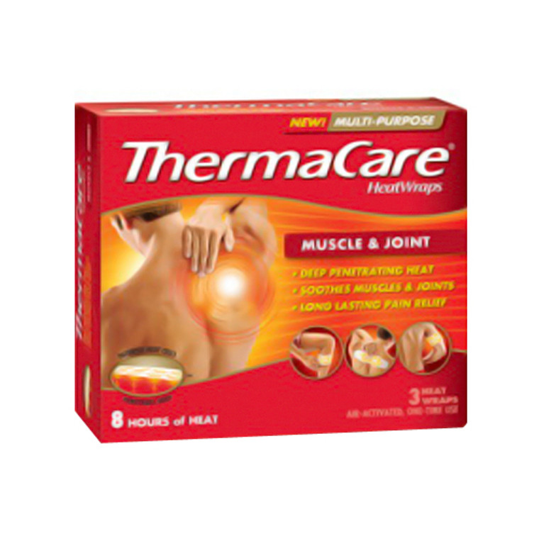 Thermacare Muscle And Joint 8 Hour Heat Wraps - 3 Ea