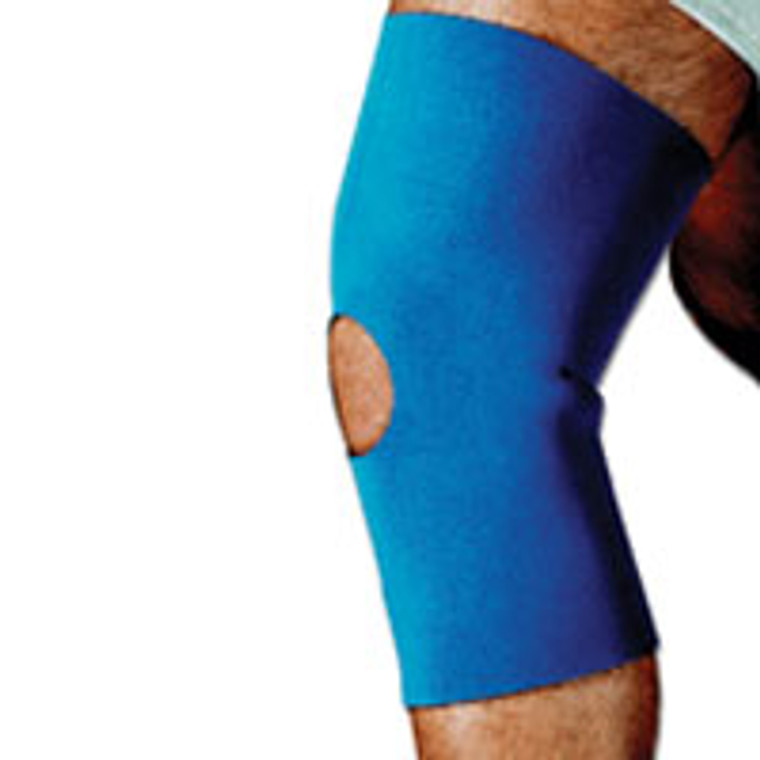 Sportaid, Knee Sleeve, Open Patella, Blue Neoprene, Medium, Size: 14 - 15 Inches - 1 Ea