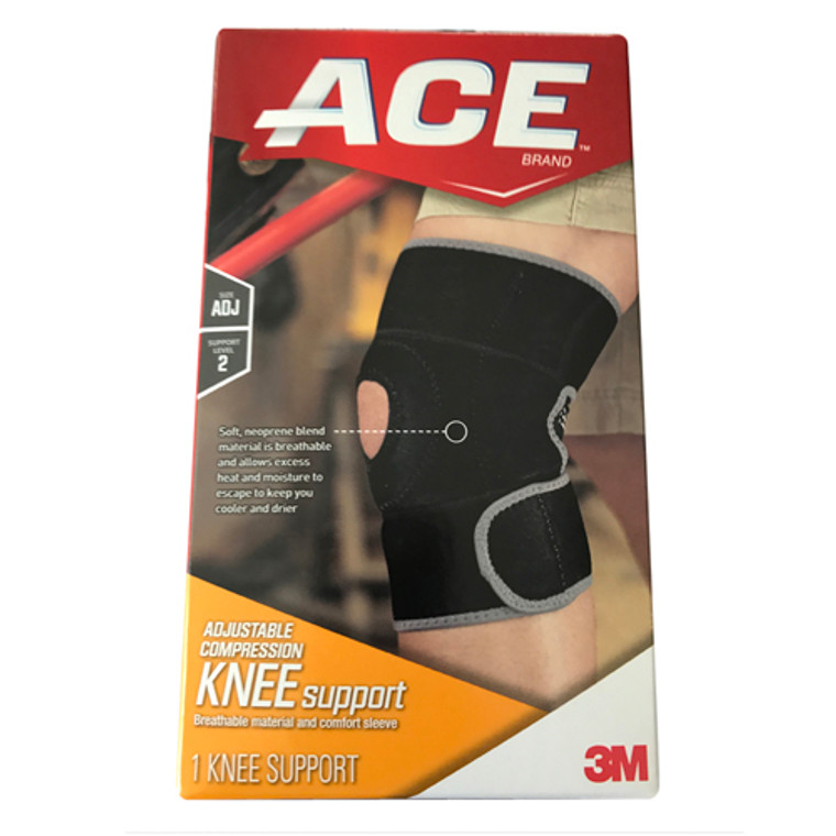 Ace Knee Support Adjustable Compression, Moderate Support, 1 Ea