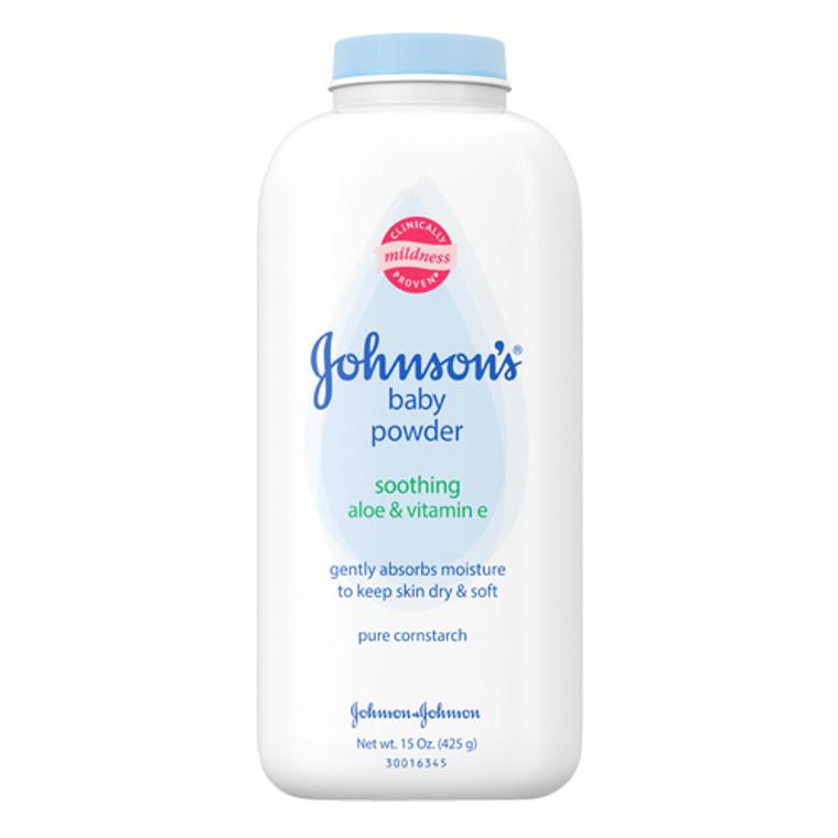 Johnsons Baby Powder With Aloe And Vitamin E Pure Cornstarch,  #3058 - 15 Oz