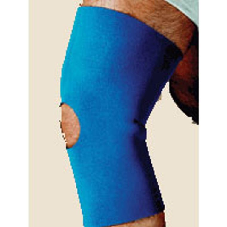 Knee Brace Sleeve Open Patella Neoprene Blue Sportaid, Small Of Size: 13 X 14 Inches - 1 Ea