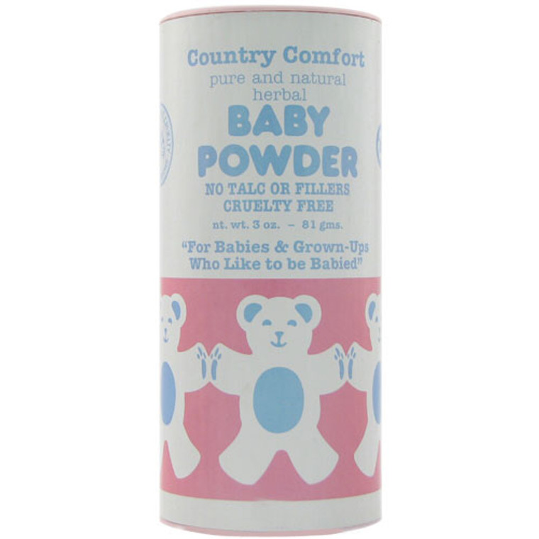 Country Comfort Pure And Natural Herbal Baby Powder, No Talc, 3 Oz