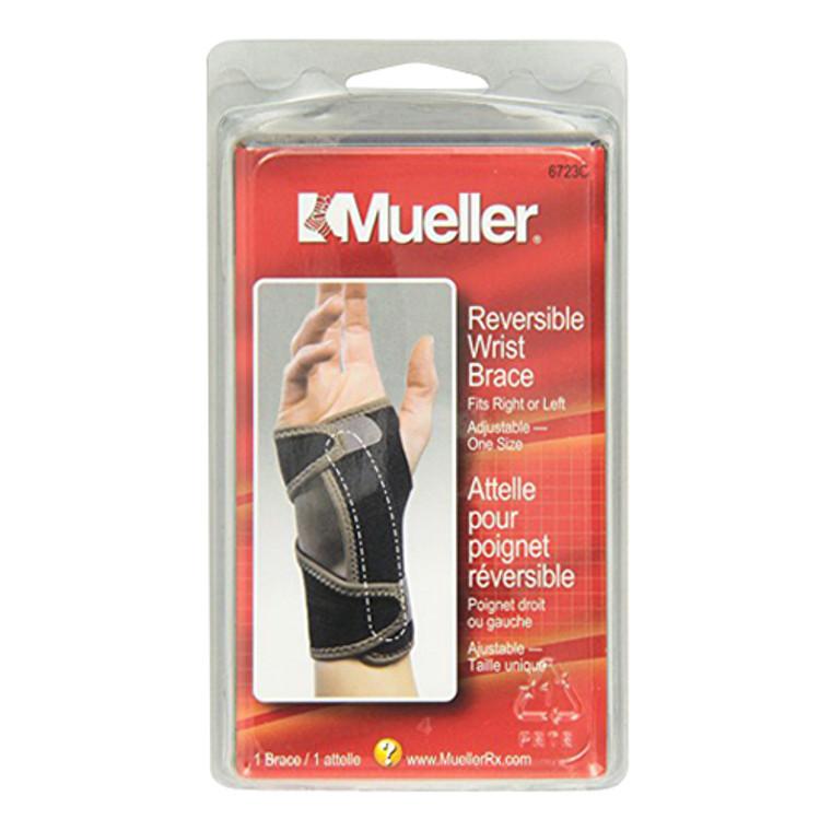 Mueller Reversible Maximum Support Splint Adjustable One Size Wrist Brace, Left or Right, 1 Ea