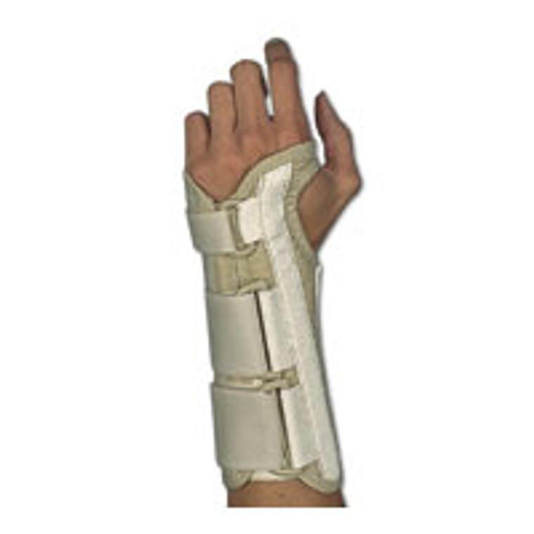 Sportaid, Wrist Brace Deluxe, Left, Beige, Medium, size: 3 - 3.5 inches - 1 ea