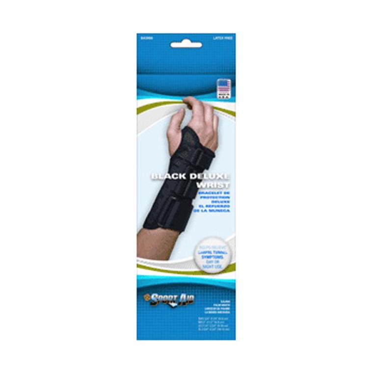 Scott Deluxe Right Medium Wrist Brace 3-3.5 inches, Black - 1 ea