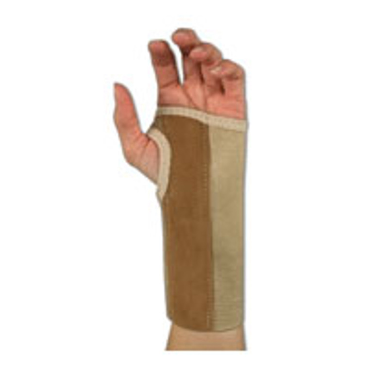Sportaid Wrist Brace Palm Stay, Beige, Left, Medium, size: 3 - 3.5 inches - 1 ea